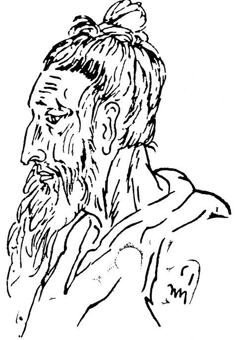 জ্যোতিরিন্দ্রনাথ ঠাকুরের আঁকা ফকির লালন সাঁই   Fakir Lalon Shai sketch by Jyotirindranath Tagore
