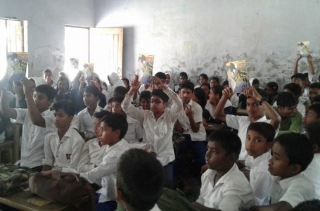 """Read Mujib"" program in J N High School, Kumarkhali, Kushtia."