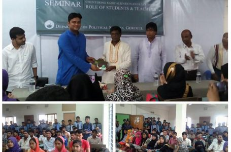 Seminar on Countering radicalization and extremism in Gurukul, Kushtia